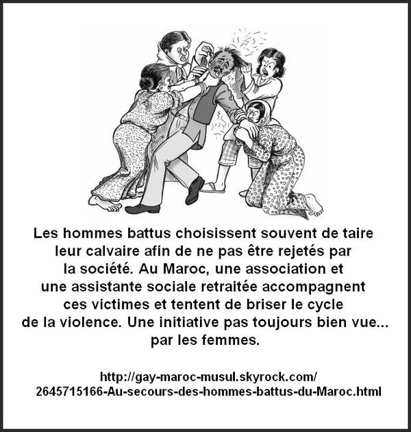 Au secours des hommes battus du Maroc
